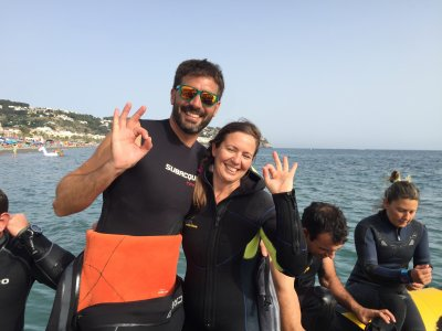 5h Diving baptism for couples La Herradura