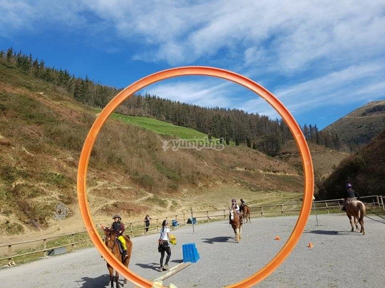 clases de equitacion en Valle Lastur