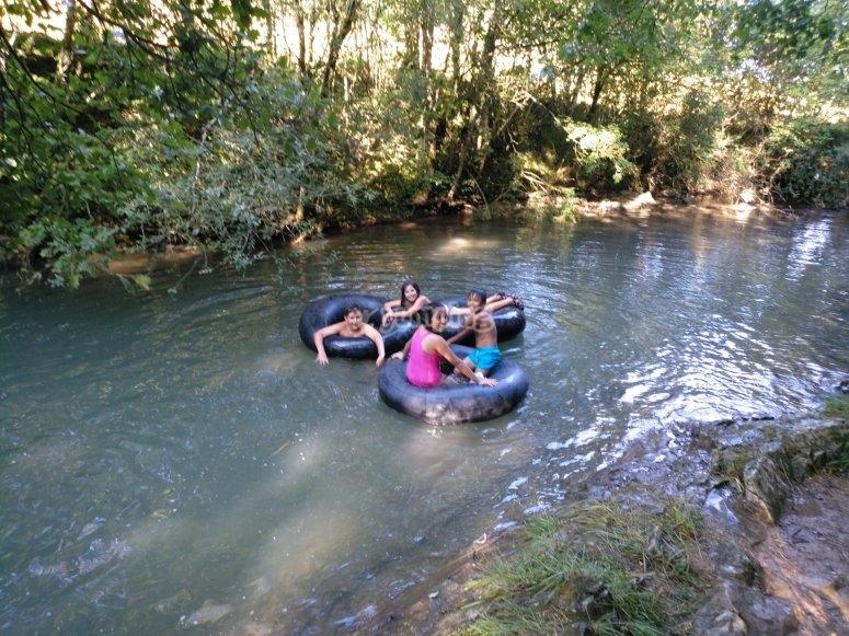 Attività sul fiume Udabe