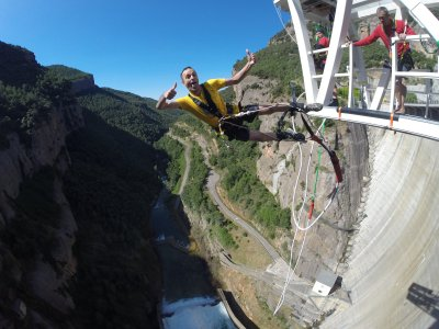 Bungee Jumping e video Llosa del Cavall 122 metri