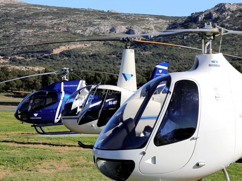 Helicopter flight in Málaga