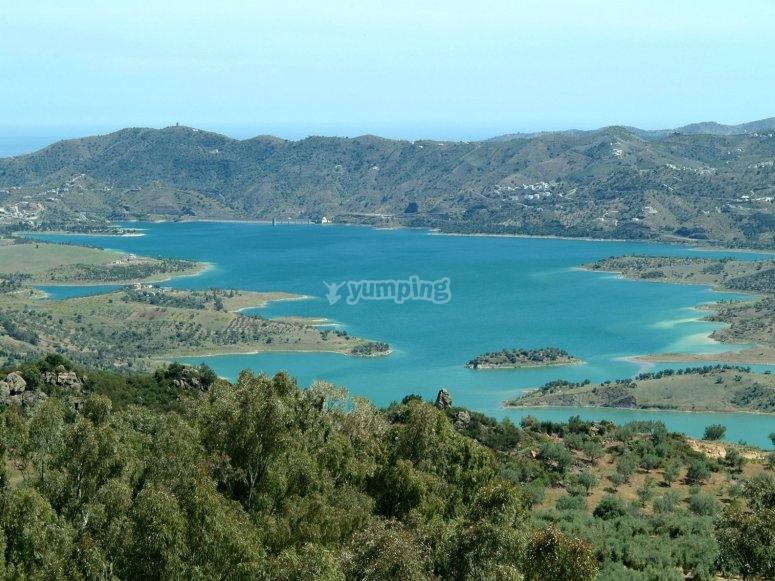 La Viñuela reservoir
