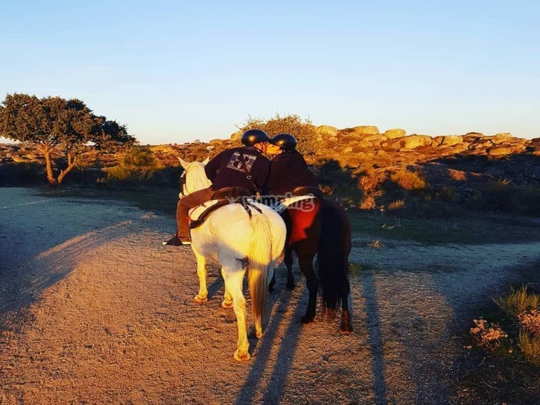 Horseback riding in Los Barruecos