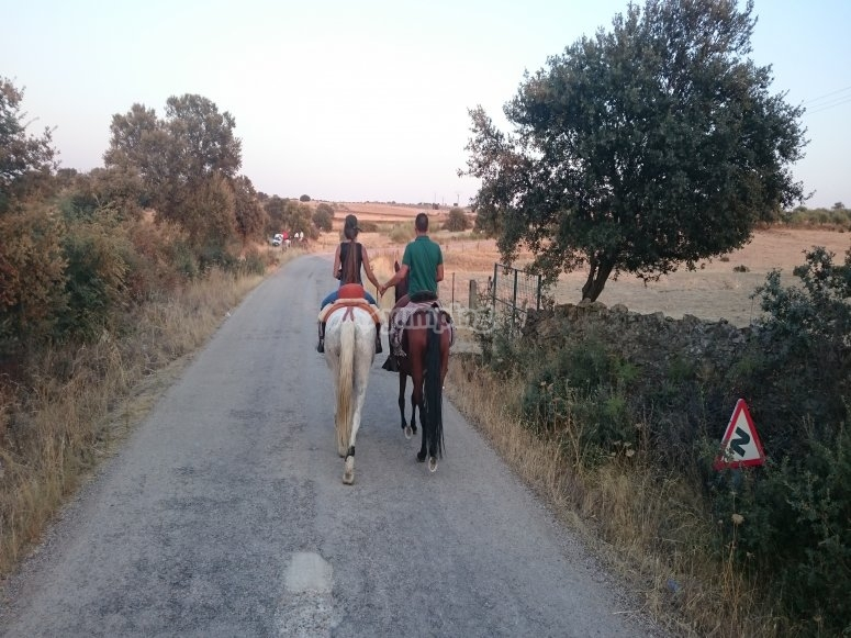 Horseback riding through EXtremadura