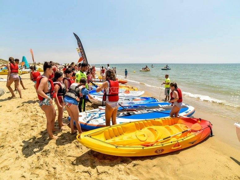 Nautical activities in Isla Cristina