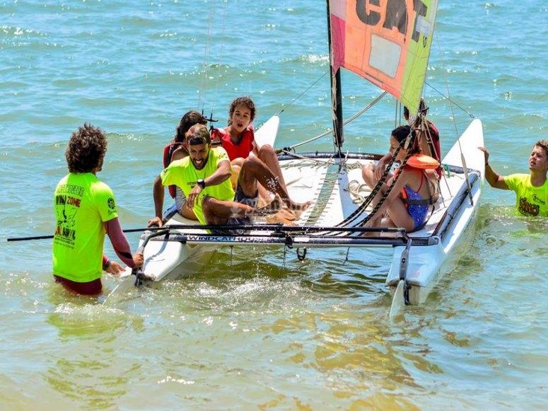 Catamaran ride in Isla Cristina