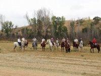 Saliendo al campo a caballo