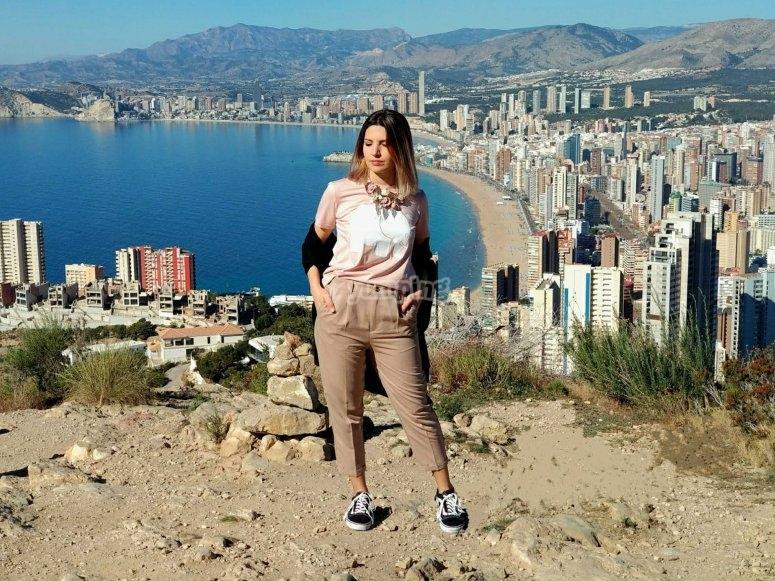 fotografia con el skyline de Benidor