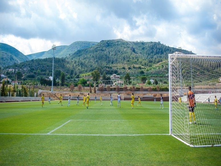 Campo de fútbol en Enguera
