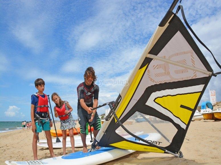 Monitorare in sella alla tavola da windsurf
