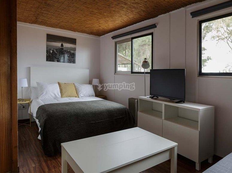 Habitación espaciosa en el bungaló