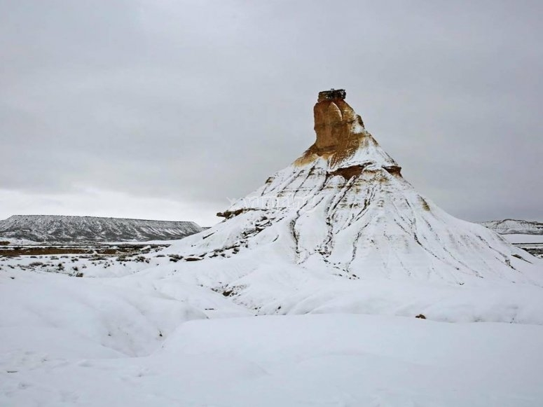 El paisaje invernal del parque