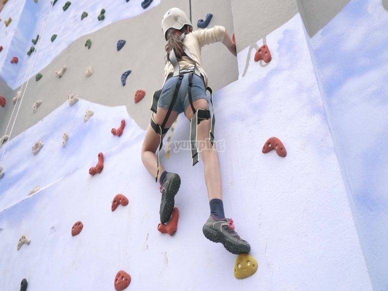 Actividad de escalada