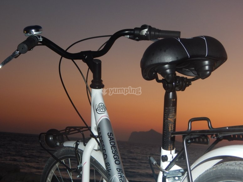 Bicycles with sunset in Calpe