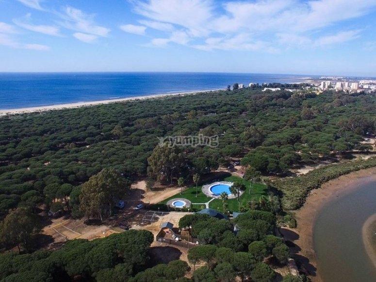 El paisaje aéreo de Isla Cristina