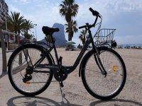 bici electrica en las playas de Calpe