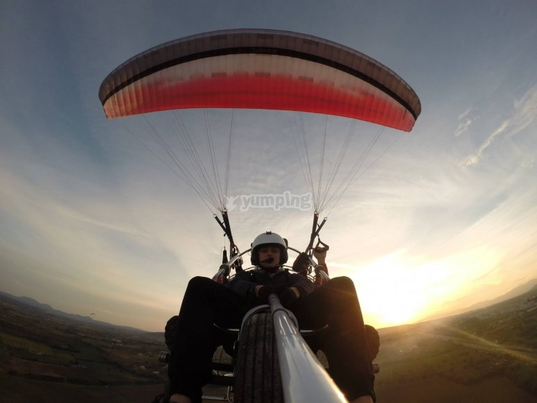 Front view of the paramotor