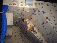 Enjoying the climbing