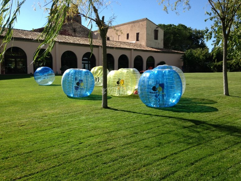 Juego de bubble futbol en Barcelona