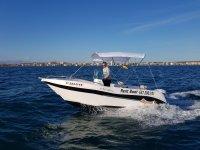 Alquiler barco Voraz 5.0 sin carnet Santa Pola 8h