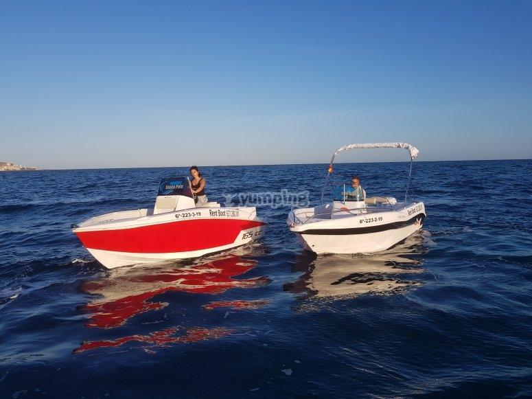 Boat navigation in Santa Pola