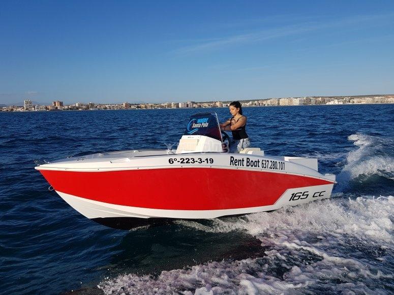 Alquiler barco sin carnet  8h
