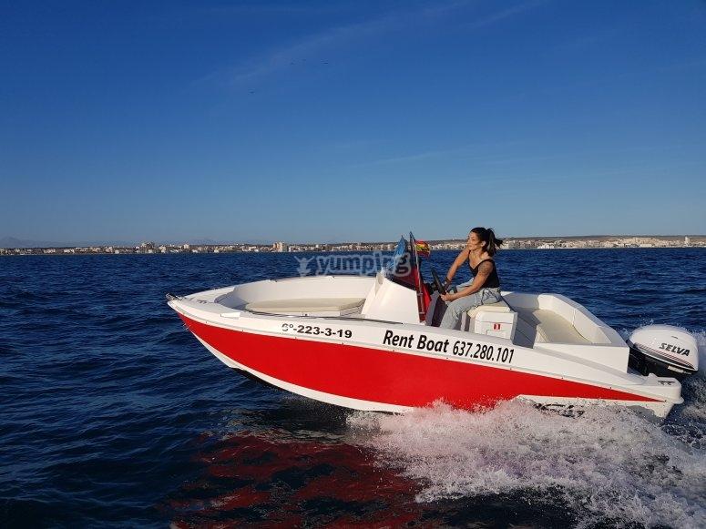 Boat rental in Santa Pola with no license