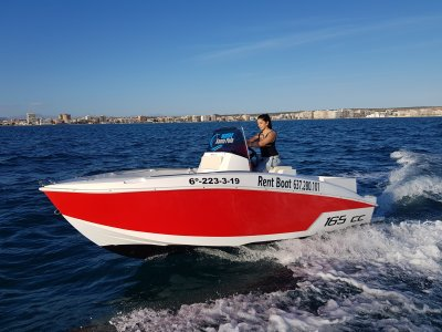 Alquiler barco Compass sin licencia Torrevieja