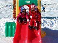 Tobogan en la nieve