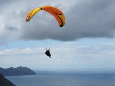 Paragliding baptism flight near Santander