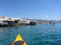 Sesión de paddle surf en Cabo de Gata