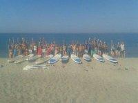 Todos con las tablas de paddle surf