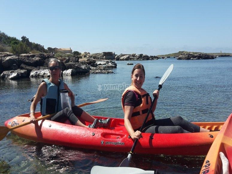 Kayak biplaza autovaciable en Mallorca