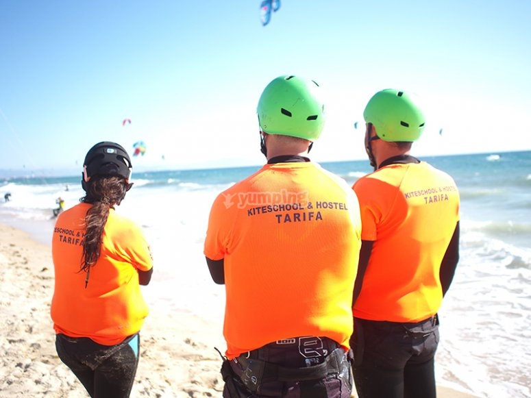 团体风筝冲浪
