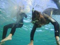 Comenzando la inmersión en el acuario