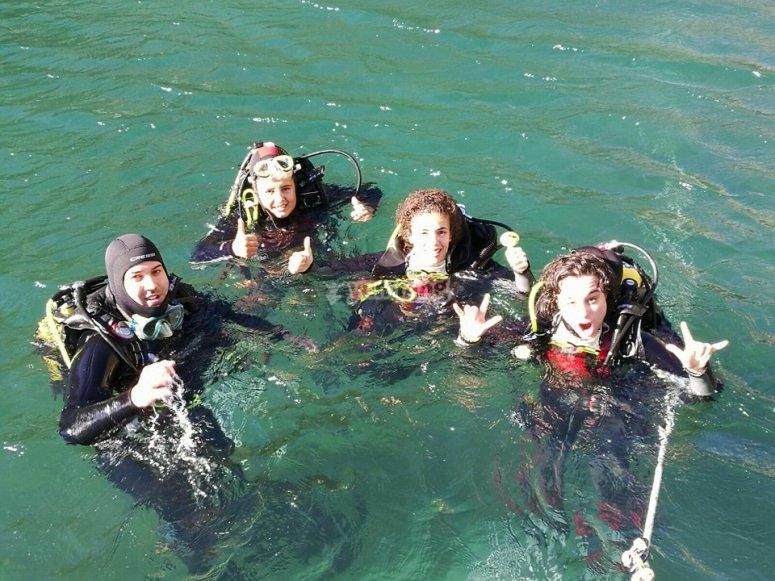 Inmersion en el mar