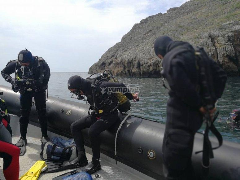 Sumergirse en el mar con el DSD