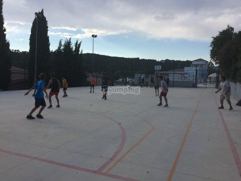Haciendo deporte