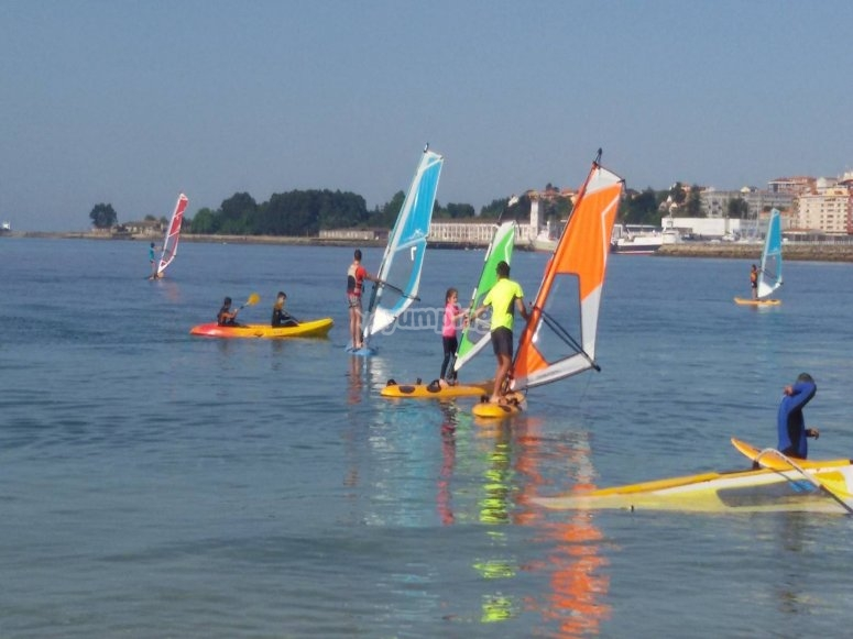 8 hours of windsurfing in Galicia