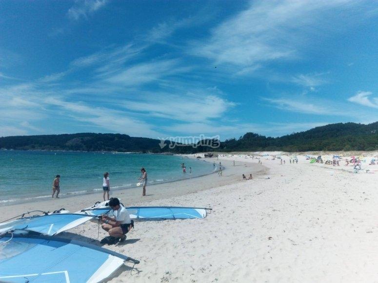 Rodeira beach in Galicia