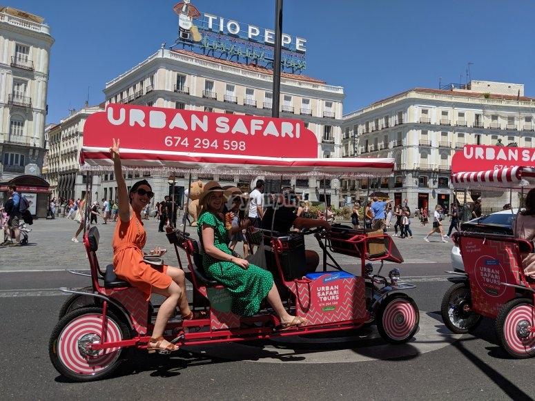 Beer bike in Madrid
