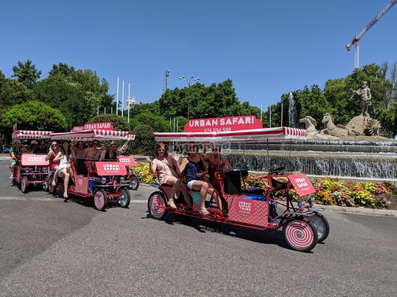Cycling to the rhythm of music in Madrid