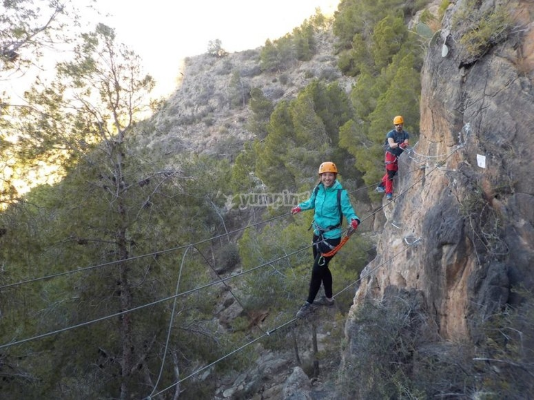 Via Ferrata with Tibetan bridge