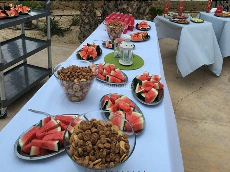 Almuerzos sanos con fruta