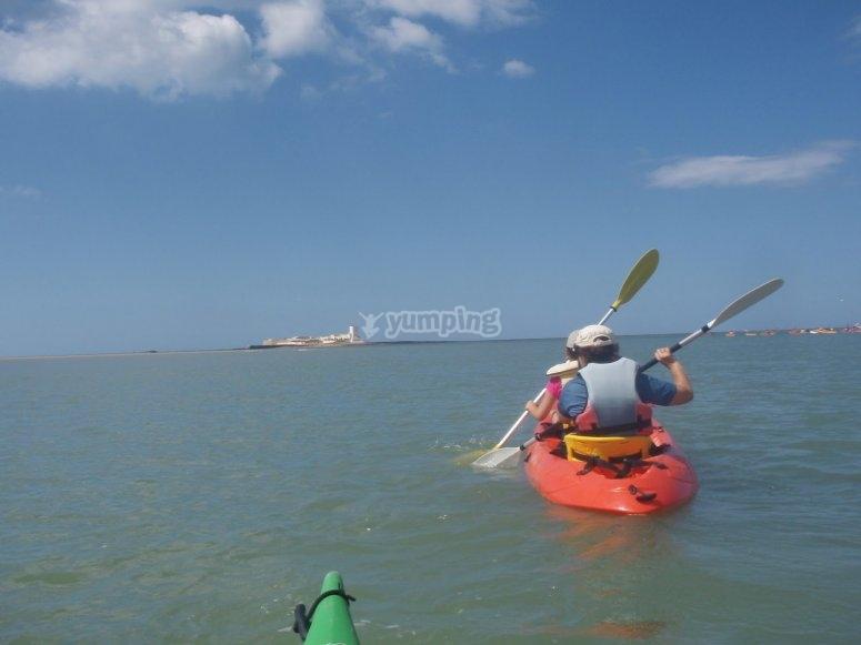 Paseo en kayak Cádiz