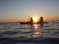 Sol de fondo kayak