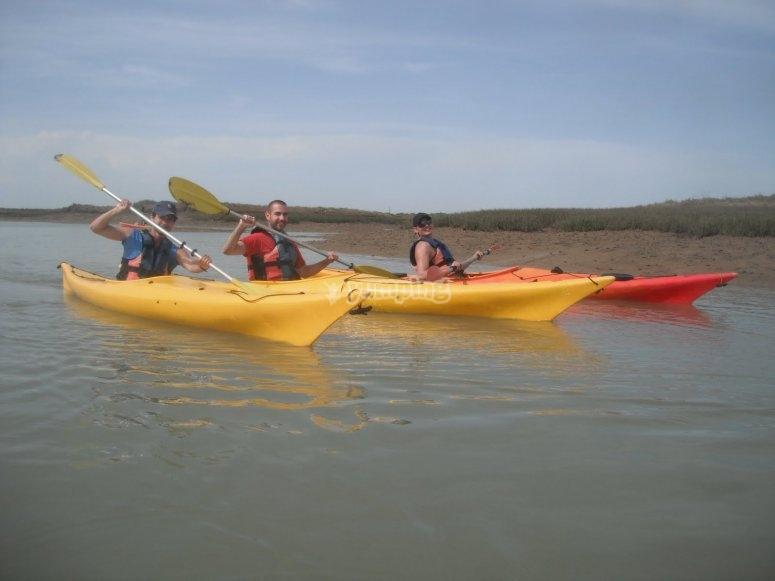 Paseo en kayaks por Sancti Petri