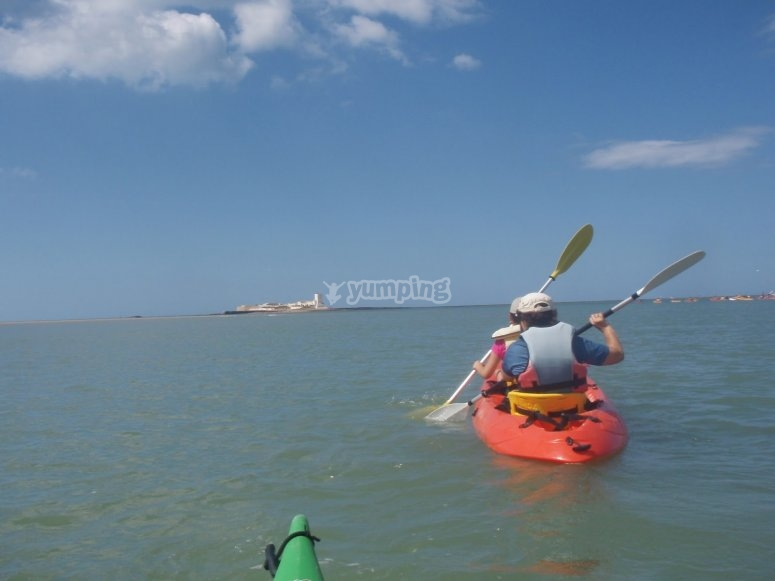 Kayak por costa gaditana