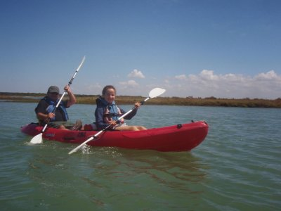 Kayak tour Children Cádiz marshes 2 hours 5 km