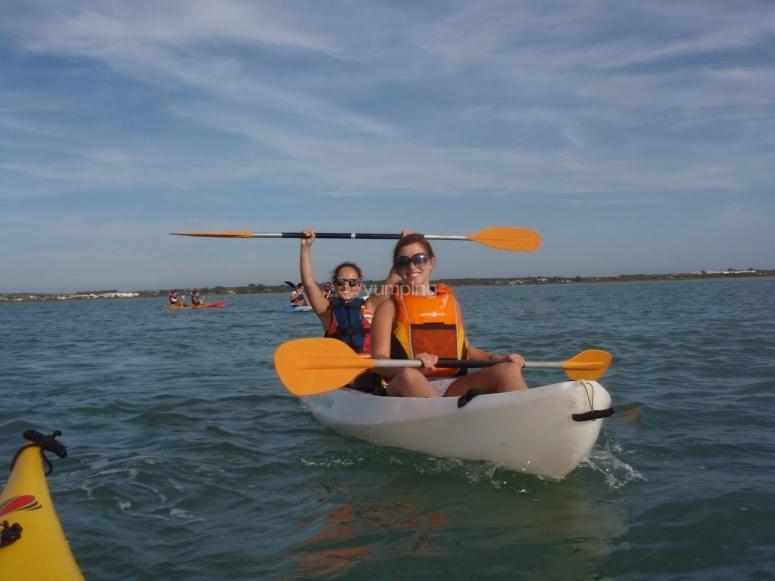 kayak biplaza de Chiclana